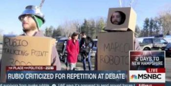 Help!  Rubio Is Being Chased By Robots!