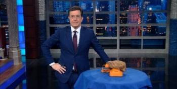 Colbert Takes The Donald's Call:  'What Are You Wearing?'