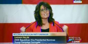 Sarah Palin's Incoherent Wisconsin Speech Goes Over Like A Lead Balloon