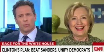 Hillary Clinton Bursts Into Laughter At Comments About 'Destroying Dems'