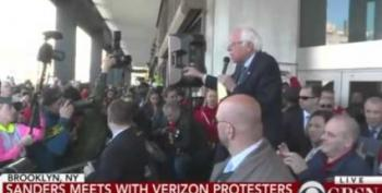 Bernie Sanders Joins Verizon Workers' Picket Line