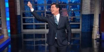 Stephen Colbert Applauds Larry Wilmore's WHCD Speech