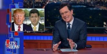 Colbert: Ryan's 'First Time' Endorsing Trump Is 'Special'