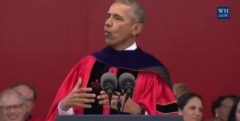 President Obama Mocks Republican Walls, Demagoguery In Rutgers Speech