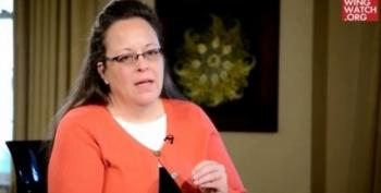Conservatives' Obsession With Shoving Things Down Throats, Kim Davis Edition