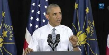 President Obama Proposes Social Security Expansion In Elkhart, Indiana Speech