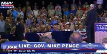 Military Mom Booed At Pence Rally For Asking About Trump's Disrespect Of Khan Family
