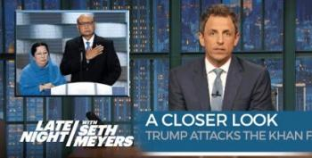 Seth Meyers Takes 'Closer Look' At Khizr Khan And Trump's 'NFL Letter'