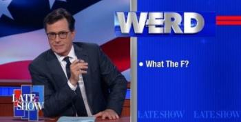 Colbert's 'Werd':  Trump And Wives Who 'Say Something'