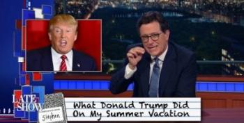 Colbert Reports 'What Trump Did On My Summer Vacation'