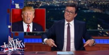 Colbert Celebrates Trump's Newfound 'Grasp On Reality'