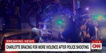 Second Night Of Protests In Charlotte Turns Violent