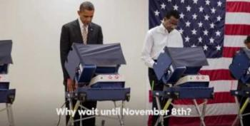 President Obama In A New Ad Says 'Vote Early'