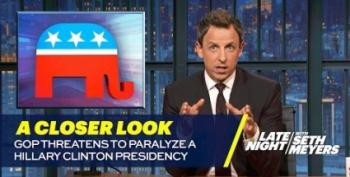Seth Meyers Blasts GOP For Promising More Obstruction