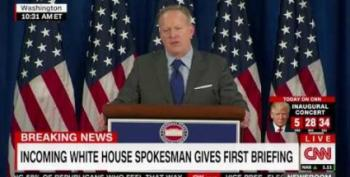 Sean Spicer Running Promotion For Trump Int'l Hotel In D.C.