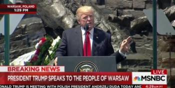 Trump Reminds Poland: Being Invaded During WWII Was 'Tough'