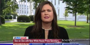 Sarah Sanders Busted For Lying Just Minutes After Vowing To 'Absolutely' Never Lie