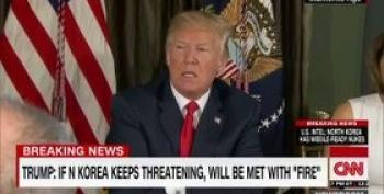 Trump Warns N. Korea They Will Be Met 'With Fire And Fury'