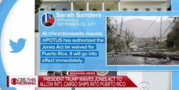 Trump Finally Waives Jones Act For Puerto Rico