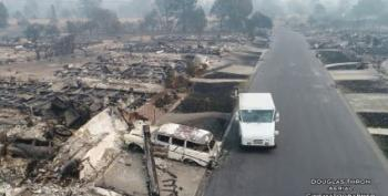 Neither Snow Nor Rain Nor Devastating California Wildfire Stops This Postal Carrier