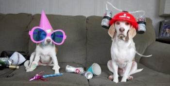 Open Thread - When Man's Away, The Dogs Will Play...Poker