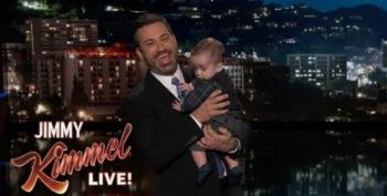 Tearful Jimmy Kimmel Holds Billy As He Pleads For Support For CHIP