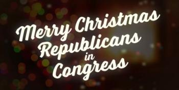 Open Thread - Merry Christmas, Republican Congress?