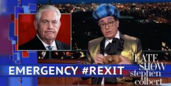 Colbert Brings Back 'The Hunger Games' To Bid Tillerson Adieu