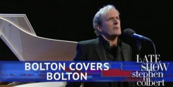 On The Colbert Show, Michael Bolton Sings John Bolton
