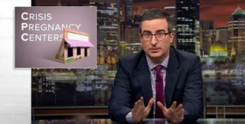 John Oliver Unveils His Own Fake Crisis Pregnancy Center