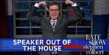 Stephen Colbert Bids Adieu To 'CrossFit Dracula', Paul Ryan