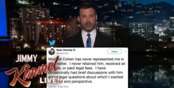 Jimmy Kimmel Wonders Why Sean Hannity Is Cohen's Mystery Client