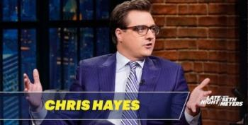 Chris Hayes Sits Down With Seth Meyers