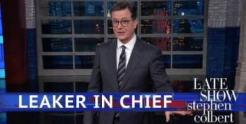 Stephen Colbert Can't Help Poking The 'Leaker In Chief'