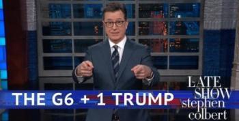 Stephen Colbert Cracks Himself Up With Trump Joke