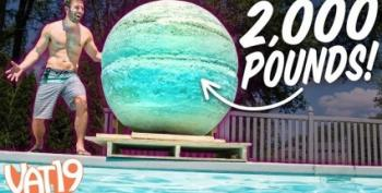 Open Thread:  World's Largest Bath Bomb!