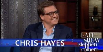 Chris Hayes Visits The Late Show With Stephen Colbert
