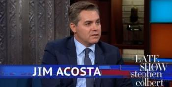 Jim Acosta On Colbert:  Maybe Trump Should Do His Job