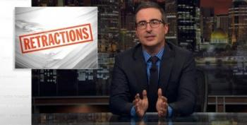 Open Thread - John Oliver Issues Some Retractions