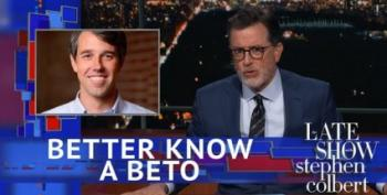 Colbert Jabs Ted Cruz For Buying Ads During His Beto O'Rourke Interview