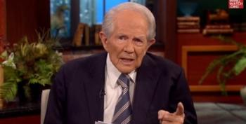 Pat Robertson Leads Viewers In Creepy Prayer Against Dr. Ford