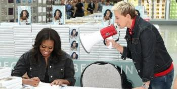 Ellen And Michelle Obama Go To Costco