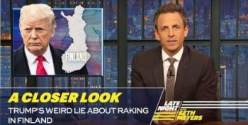 Seth Meyers Burns Trump Over 'Raking The Forest'