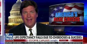 Tucker Carlson Blames Life Expectancy Drop On Migrants And Obamacare
