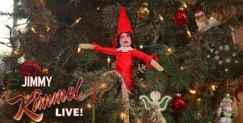 To Counter Elf On A Shelf, Jimmy Kimmel Introduces Huckabee In A Tree