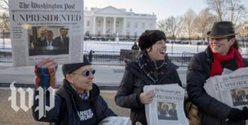 Pranksters 'Yes Men' Hand Out Fake 'Trump Resigns' Newspapers