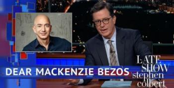 Colbert Makes A Play For The Soon-To-Be-Ex Mrs. Jeff Bezos