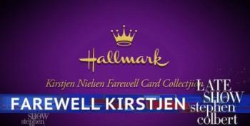 Colbert's 'Kirstjen Nielsen Farewell Card Collectjion'