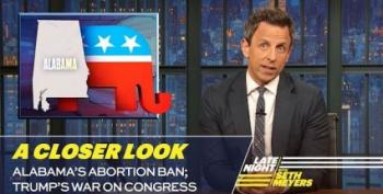 Seth Meyers Covers Alabama Abortion Ban And Trump's Weaponization Of DOJ
