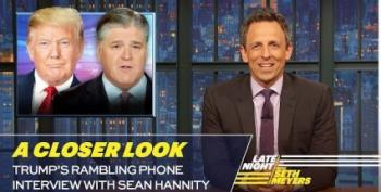 Seth Meyers Watches Trump On Hannity So You Don't Have To